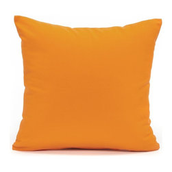 "Solid Orange Accent / Throw Pillow Cover, 24""x24"" - (Available in 16""x16"", 18""x18"", 20""x20"", 24""x24"", 26""x26"", 12""x20"", 20""x54"")"