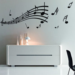 ColorfulHall Co., LTD - Musical Notation Music Notes Wall Decoration Music Wall Decals - Musical Notation Music Notes Wall Decoration Music Wall Decals