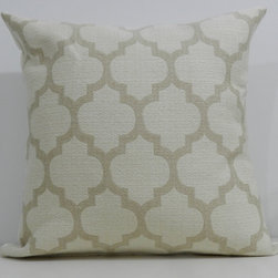 Designer Handmade Pillow by Milk & Cookies Canada - I love the fun yet subtle pattern of this pillow.