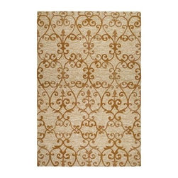 Couristan Fresco Estates Indoor / Outdoor Area Rug - The Couristan Fresco Estates Area Rug makes your outdoor living space as stylish and comfortable as your indoor one. This area rug has a scrolled design in elegant sand, citrine, and golden camel. It's well-made of fiber-enhanced courtron polypropylene to resist mold and mildew while feeling soft underfoot. This rug comes in your choice of size and shape. About Couristan RugsThe renowned Couristan Rug Company is headquartered in Fort Lee, New Jersey. The company continues to take great pride in its 78 year-old commitment to excellence by weaving four key components - Trust, Style, Quality and Innovation into each and every product it imports or manufactures. This commitment has earned the company a long-standing and successful position in the floor covering industry while providing its customers with the highest levels of design, value and customer service.