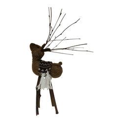Felt & Twig Deer Figure - FREE SHIPPING !!!!!!