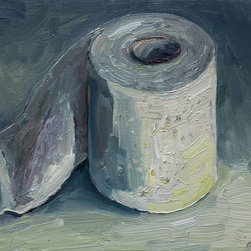 """""""Toilet Paper Roll #3, Painting"""" - This painting is part of my bathroom series. Paintings for the bathroom."""