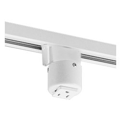 Progress Lighting - Progress Lighting P8751-28 Grounded Convenience Outlet Adapter - Outlet adapter. Grounded convenience outlet mounts on track. Max. 20 amps.