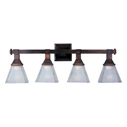 Maxim Lighting - Maxim Lighting 11079FTOI Brentwood Oil Rubbed Bronze 4 Light Vanity - 4 Bulbs, Bulb Type: 100 Watt Incandescent