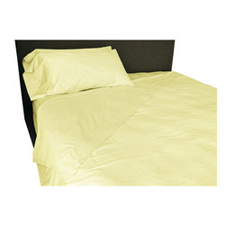 BrandWave - Sheet Set, Butter - Our 100% cotton sheets are made from the finest 350-thread count sateen. These sheets are unrivaled in their softness and durability. They will only get more comfortable with each wash.
