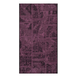 """Safavieh - Abel Rug, Black / Purple 2' X 3'6"""" - Construction Method: Power Loomed. Country of Origin: Turkey. Care Instructions: Vacuum Regularly To Prevent Dust And Crumbs From Settling Into The Roots Of The Fibers. Avoid Direct And Continuous Exposure To Sunlight. Use Rug Protectors Under The Legs Of Heavy Furniture To Avoid Flattening Piles. Do Not Pull Loose Ends; Clip Them With Scissors To Remove. Turn Carpet Occasionally To Equalize Wear. Remove Spills Immediately. Elegant Old World velvet motifs make a fashion statement for the floor in PALAZZO. A rich vintage look is achieved with a combination of lustrous and matte yarns in polypropylene and natural jute, and textural chenille for velvety pattern dimension."""