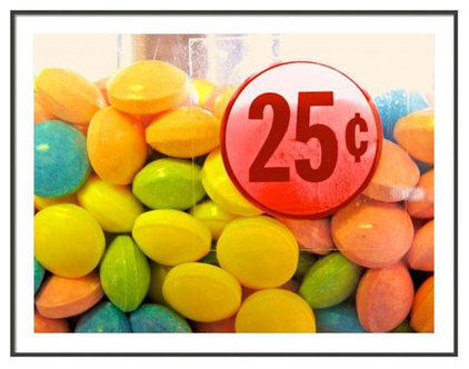 "Artwork ""Candy Twenty Five Cents"" Framed Print"