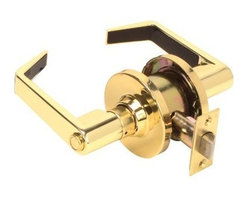Premier - Grade 2 Privacy Bed and Bath Lever Lockset - Polished Brass - Premier 809257 Grade 2 Commercial Duty, Privacy Bed and Bath Leverset Lockset, ADA, US3 Polished Brass Finish.