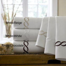 None - Cable Embroidered Egyptian Cotton Collection 300 Thread Count Pillowcases (Set o - Add luxury to your linen collection with these Egyptian cotton pillowcases, featuring a 300-thread count for maximum softness and durability. Embroidered with a traditional cable design, these pillowcases are machine washable for easy cleaning.