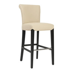 Safavieh - Safavieh Seth Bar Stool X-C0154RCM - The clean lines of the Seth Bar Stool make it just right for any home&#8212:traditional to contemporary. Featuring a solid birch wood frame with a black finish, Seth offers comfortable seating at the just right height of 30 inches. The seat and back are upholst