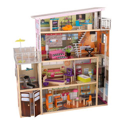 Kidkraft - KidKraft Soho Townhouse with Furniture - Kidkraft - Doll Houses - 65277 - Soho Townhouse lets young girls play pretend and be the interior decorator of their very own palace. It's so much fun to move the furniture pieces from room to room and let your imagination run wild! This jumbo wooden dollhouse is four feet across and nearly four feet tall so multiple children can play at the same time without feeling crowded.