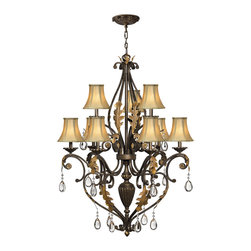 Hinkley Lighting - Hinkley Lighting 4809SU 2 Tier 9 Lt. Chandelier - Hinkley Lighting 4809SU 2 Tier 9 Lt. Chandelier