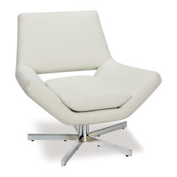 """Office Star - Office Star Avenue Six Yield 31"""" Wide Chair in White Faux Leather - The Yield collection includes a 360 Degree swivel chair in a choice of two sizes as well as a coordinated ottoman and two-seat loveseat. As a stand-alone chair, complete room or reception area ensemble, the distinct low profile design of the Yield collection will appease those who seek a high level of style and comfort..."""