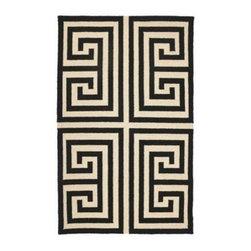 Black Greek Key Rug - Black and white Greek key is timeless and elegant.
