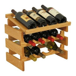 Dakota 12 Bottle Wine Rack with Display Top - Quad Row - WRD42