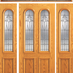 "Prehung Mahogany Arch Twin Lite Front Door, Two Sidelites Transom - SKU#    102-A-1-2EBrand    AAWDoor Type    ExteriorManufacturer Collection    Unique Entry DoorsDoor Model    Door Material    WoodWoodgrain    MahoganyVeneer    Price    3824Door Size Options    [36""+2(12"") x 80""] (5'-0"" x 6'-8"")  $0[36""+2(18"") x 80""] (6'-0"" x 6'-8"")  $0Core Type    SolidDoor Style    TraditionalDoor Lite Style    Twin Lite , Arch Lite , 2/3 LiteDoor Panel Style    2 Panel , Raised MouldingHome Style Matching    Colonial , Plantation , VictorianDoor Construction    Engineered Stiles and RailsPrehanging Options    PrehungPrehung Configuration    Door with Two Sidelites and Elliptical TransomDoor Thickness (Inches)    1.75Glass Thickness (Inches)    3/4Glass Type    Triple GlazedGlass Caming    BlackGlass Features    Insulated , TemperedGlass Style    Glass Texture    Glue ChipGlass Obscurity    Moderate ObscurityDoor Features    Door Approvals    FSCDoor Finishes    Door Accessories    Weight (lbs)    1190Crating Size    25"" (w)x 108"" (l)x 52"" (h)Lead Time    Slab Doors: 7 daysPrehung:14 daysPrefinished, PreHung:21 daysWarranty    1 Year Limited Manufacturer WarrantyHere you can download warranty PDF document."