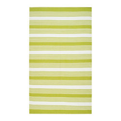 Safavieh - Thom Filicia Hand-woven Indoor/ Outdoor Green Rug (4' x 6') - Safavieh's Thom Filicia Indoor/ Outdoor collection is inspired by timeless contemporary designs crafted with the softest plastic available.