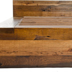 Hamilton Bed - Headboard and footboard made of reclaimed oak from Kentucky tobacco barns.