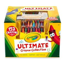 Crayola - Crayola 152-Count Ultimate Crayon Case - Your child will love the rainbow of colors that shines from the Crayola Ultimate Crayon Collection case. Filled with 152 different color crayons, this box of unlimited creativity is perfect for drawing, doodling, and even more detailed coloring projects.