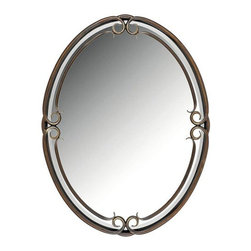 Quoizel - Quoizel DH44030 Rounded Mirror from the Duchess Collection - Indulge in classic European elegance for your home with this refined design fit for royalty. The hand-forged iron is twisted into graceful curves, while the trumpeted shades celebrate the beauty of light with their warm gradation of color.