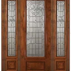 """Prehung Side lights Door 96 Wood Alder Palacio 1 Panel 3/4 Lite Glass - SKU#E18192-G-DE834S1-2BrandGlassCraftDoor TypeExteriorManufacturer Collection3/4 Lite Entry DoorsDoor ModelPalacioDoor MaterialWoodWoodgrainKnotty AlderVeneerPrice5495Door Size Options  +$percentCore TypeDoor StyleDoor Lite Style3/4 LiteDoor Panel Style1 PanelHome Style MatchingDoor ConstructionEstanciaPrehanging OptionsPrehungPrehung ConfigurationDoor with Two SidelitesDoor Thickness (Inches)1.75Glass Thickness (Inches)Glass TypeTriple GlazedGlass CamingOil Rubbed Bronze , Satin NickelGlass FeaturesTempered , BeveledGlass StyleGlass TextureGlass ObscurityDoor FeaturesDoor ApprovalsWind-load Rated , SFI , TCEQ , AMD , NFRC-IG , IRC , NFRC-Safety GlassDoor FinishesDoor AccessoriesWeight (lbs)628Crating Size25"""" (w)x 108"""" (l)x 52"""" (h)Lead TimeSlab Doors: 7 Business DaysPrehung:14 Business DaysPrefinished, PreHung:21 Business DaysWarrantyOne (1) year limited warranty for all unfinished wood doorsOne (1) year limited warranty for all factory?finished wood doors"""