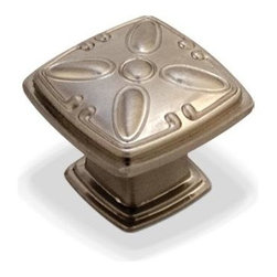 Jeffrey Alexander - Milan Decorated Square Cabinet Knob w Screw (Set of 10) - Includes one 0.25 in. x 1 in. screw. Zinc die cast. 1.25 in. L x 1.25 in. W