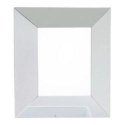 "Hardware Resources - Lyn Design Bathroom Mirror - All Glass Geometric Mirror by Lyn Design 24"" x 28-1/4"" beveled glass mirror Corresponds with VAN054-T"