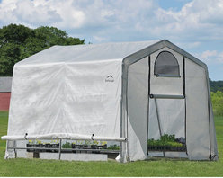 None - Shelter Logic Grow-it Greenhouse-in-a-box Greenhouse - The Grow-it Greenhouse-in-a-box with Easy Flow roll-up side vents delivers quality construction,quick and easy assembly and best-in-class value. Ready to build out of the box,this greenhouse with Easy Flow features a powder-coated steel frame.