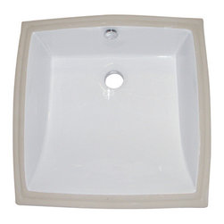 """Kingston Brass - White China Undermount Bathroom Sink with Overflow Hole - Finest china material made undermount sink is perfect way to bring a bright new look to your bathroom.; High chemical and thermal shock resistance; Stain resistant and easy-to-clean; Standard 1-7/8""""-�recessed drain hole; For undercounter installation; Drain not included; Material: Ceramic; Finish: White Finish; Collection: Cove"""