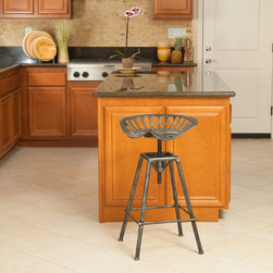 Christopher Knight Home - Christopher Knight Home Chapman Saddle Black Barstool - The Chapman saddle barstools are comfortably designed and are a throw-back to the type of stool you would only find nowadays in a divebar. Crafted of sturdy iron,they are sure to be a great transitional piece from your kitchen to dining space.