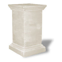 Amedeo Design, LLC - USA - Framed Pedestal - Our Framed Pedestal is truly unique and has tremendous versatility inside or out. Being made from lightweight ResinStone, it is also easily moved to different locations, yet by looking at it you would think it is made from stone. Though they look like ancient European & Mediterranean designs in carved stone, our products are made of lightweight weatherproof ResinStone. So authentic, you actually have to lift them to convince yourself they're not stone at all! Made in USA.