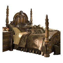 AICO Furniture - Pontevedra King 13-piece Comforter Set - Ultra-detailed European Motif. Olive/Brown Color Scheme. 1 Comforter, 3 Euro Shams, 2 King Size Pillow Shams, 1 Bedskirt (3 Pieces), 6 Decorative Accent Pillows