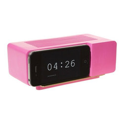 Alarm Dock, Neon Pink - Do you have a clock at your office, or do you look at your smartphone like I do? This neon gadget is an old-school clock and an iPhone dock in one, so you can get your iPhone charged and keep it nearby.