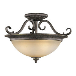 Vaxcel Lighting - Vaxcel Lighting CF35918 Mont Blanc 3 Light Semi-Flush Ceiling Fixture - Features: