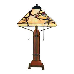 Quoizel Lighting - Quoizel TF6898M Grove Park Tiffany Multi-Color Table Lamp - 2, 60W A19 Medium
