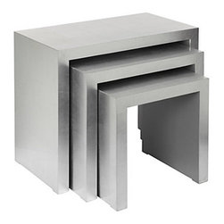 Z Gallerie - Astair Nesting Tables - These nesting tables have an industrial feel unlike any I have seen before.