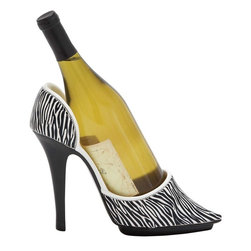 Benzara - Jungle Print Shoe Wine Holder with Stiletto Design - Exquisitely designed to offer versatile style, this Shoe Wine Holder makes a great choice for all kinds of homes and settings as it features a distinctive design. This wine holder has a versatile appeal which makes it ideal for blending in with all kinds of settings. The holder is designed with sleek lines and minimal detailing which gives it a neat and attractive appearance. Sporting a natural polystone finish, it has a subtle style that can accent interiors. It is crafted to hold wine bottles firmly to stop spillage and can be mounted on the wall to help save space. Made from top quality polystone, the holder has a sturdy make that is sure to last a long time. This wine holder will flaunt your taste and style in beverages and win you appreciation for your exquisite taste.