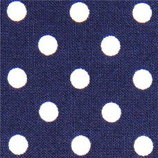 Fabric blue Michael Miller fabric small white polka dots