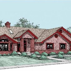 Eplans Bungalow House Plan - Three Bedroom Bungalow - 3488 Square Feet and 3 Bed