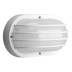 "Progress Lighting - Progress Lighting P7338-30EBWB Polycarbonate Outdoor Series 10-5/8"" Single-Light - *Polycarbonate UV stabilized ribbed frosted lens"