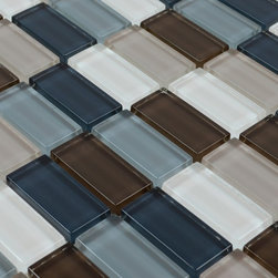 Glass Mosaic Tile - Product Description:Item#: COB0112Collection: Crystal Glass TileColor: Color Blend(Grey, Blue and White)Surface Finish: Glossy GlassShape: RectangleChip Size: 1 x 2 In. (23mm x 48mm)Thickness: 5/16 In. (8mm)Each sheet of this glass tile is approximately 1 sq ft per sheet and is mesh mounted on high quality fiber glass for easy installation of your glass mosaic tile projects.Application: Glass mosaic tiles are impervious to the water, thus it is great for both interior and exterior use so moisture is not an issue. Mosaic glass tiles are great on floors and walls and have been most popular in bathrooms, spas, kitchen backsplash, wall facades and pools as well as a variety of other applications.Characteristics: Glass mosaic tile has a zero water absorption rate, and this tile exceeds ANSI standards for water absorption for mosaic tile. It is strong, durable, contamination free, and only the best quality tiles are selected as our tiles are inspected for blemishes before shipment.
