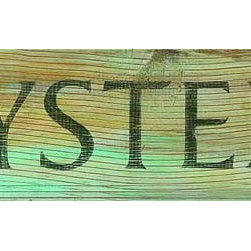 Red Horse Signs - Vintage Beach Signs Oysters - Add  a  bit  of  seafood  charm  to  beach  house  casual  kitchen  or  seaside  bungalow  with  the  Oysters  sign  printed  directly  to  distressed  wood.  Rustic  in  style  with  a  weathered  vintage  appeal  this  sign  measures  7x30  inches.