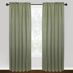 """Park B. Smith - Park B. Smith Vintage House Weston 100% Cotton Rod Pocket Window Curtain Panels - These beautiful, chambray panels feature a thin, vertical stripe running from top to bottom. Panels are sold individually, measure 40"""" wide and fit a rod up to 2"""" in diameter."""