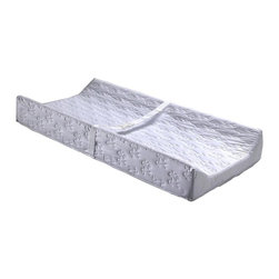 Child Craft - Child Craft 2 Sided Contour Changing Pad in White - With contoured sides for added safety, this dual sided changing pad will be an excellent addition to any nursery. Finished in white with a textured vinyl cover for easy cleanup, the pad has a built-in safety belt and is designed to fit most changing tables and dresser tops. Contoured sides. Easy to clean waterproof vinyl cover. Fits most dressing tables and dresser tops. Built-in safety belt. Made in USA. 1 Year manufacturer warranty. 33 in. L x 16 in. W x 4 in. H (2 lbs.)The Child Craft contour pad provides 2 contoured sides to help keep baby safe. It will fit most dresser tops and changing tables (attaches with provided screws). The vinyl cover is easy to wipe clean.