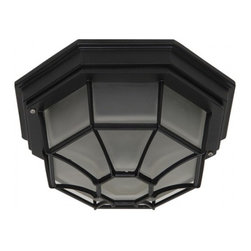 YOSEMITE HOME DECOR - 2 Lights Flush Mount in Oil Rubbed Bronze - - 10.75 in. Exterior Flush Mount