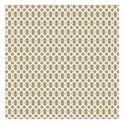 Beige Small Geometric Cotton Fabric - Tan & white mazelike lattice.  A little pizazz will go a long way.Recover your chair. Upholster a wall. Create a framed piece of art. Sew your own home accent. Whatever your decorating project, Loom's gorgeous, designer fabrics by the yard are up to the challenge!