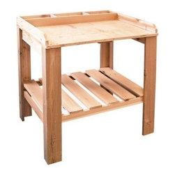 Garden Potting Bench Table -