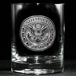 "Crystal Imagery, Inc. - Army Whiskey, Scotch, Bourbon Rocks Glasses for Military - Engraved Army Military Whiskey Glass is a great army man or woman gift for promotions, graduation, or retirement. Army Whiskey Glasses are a classy gift for military personnel. Deeply carved using our sand carving technique, each whiskey, scotch, bourbon glass is meticulously custom made to order making it the perfect gift for those seeking unique gift ideas for whiskey lovers - men and women alike. At 4.25"" high x 3.4"" wide, our whiskey glasses and scotch glasses hold 13.5 oz. A set of these etched whiskey glasses will be the favorite gift at any special gift giving occasion. Dishwasher safe. SOLD AS A SET OF 4."