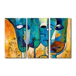 Hand-painted Abstract Oil Painting - Set of 3 - Free Shipping - As a huge online store, Oilpainting-shop.com have Abstract Paintings, People Paintings, Famous Paintings, Landscape Paintings, Animal Paintings, Venice Painting, Boats Paintings, Sunflower Paintings and so on.