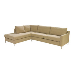 Lazar Industries - Soho Sectional:  Loveseat Chaise and Adjacent 2-Seater Sofa - Soho Sectional:  Loveseat Chaise and Adjacent 2-Seater Sofa:  Lazar's most popular and customizable stlye, the Soho offers modern luxury in a compact package.